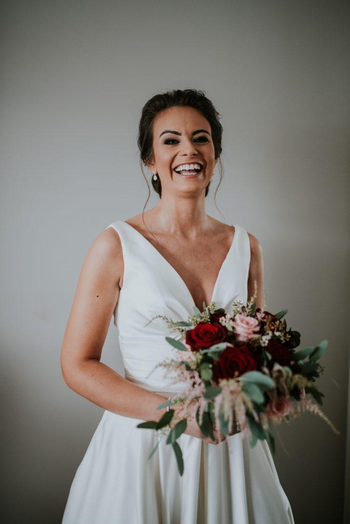 Christmas bride, winter wedding, knightsbrook hotel bride