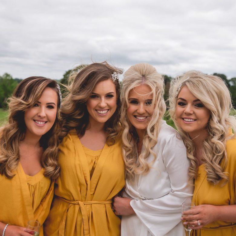 Knightsbrook hotel wedding morning prep hair makeup bride bridesmaids