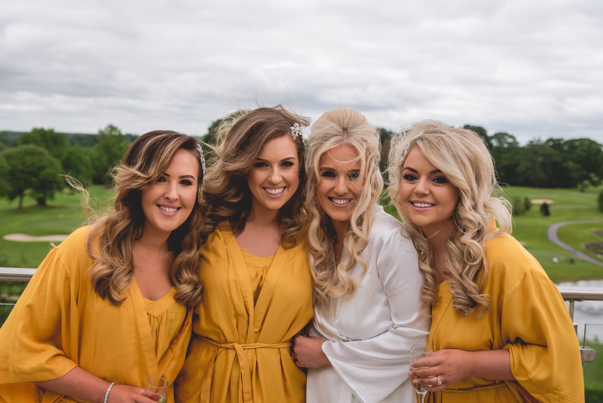 Knightsbrook hotel wedding morning prep hair makeup bride bridesmaids