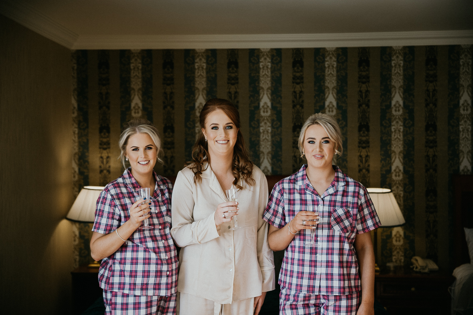 knightsbrook hotel wedding bride bridesmaids morning prep