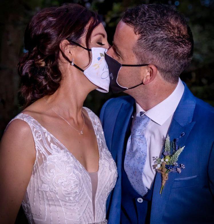 Seagrave barns wedding, rustic bride, covid bride, michelle and neill, segrave, barm wedding