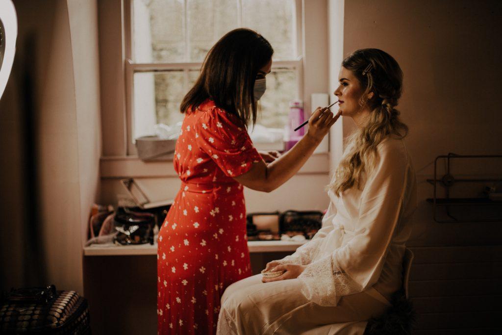 boho makeup boynehill house bobo bride