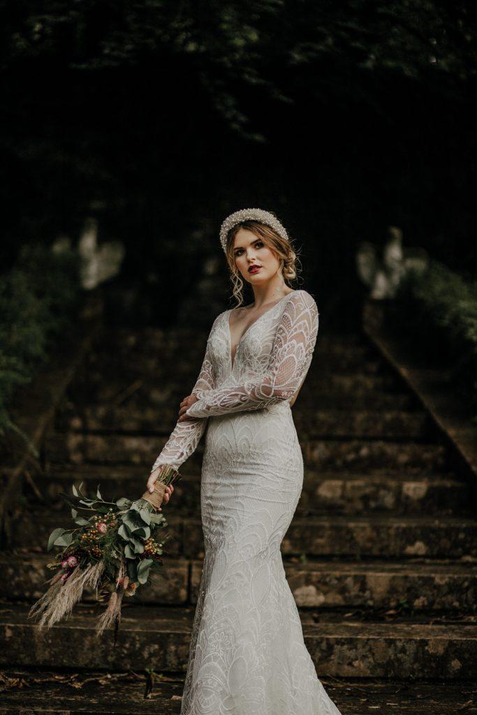 Boynehill house shoot, winter wedding, dark lip
