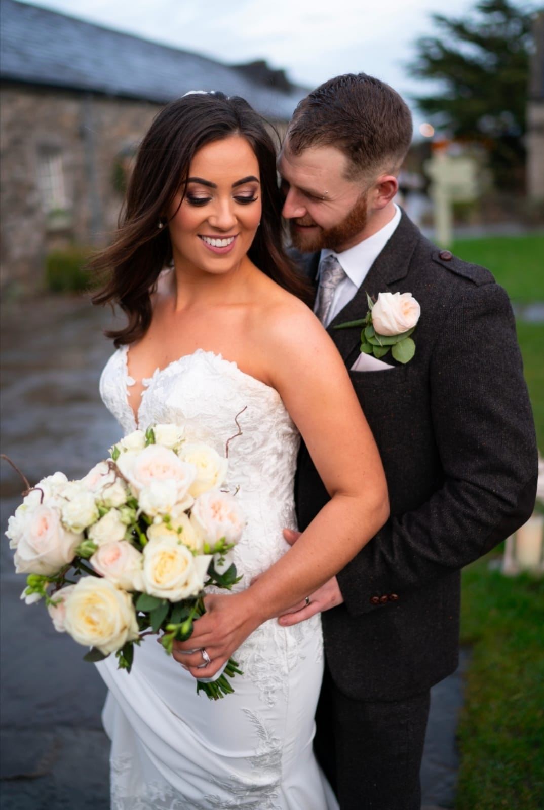 Ballymagarvey Village wedding glam makeup christmas bride winter wedding beautiful makeup