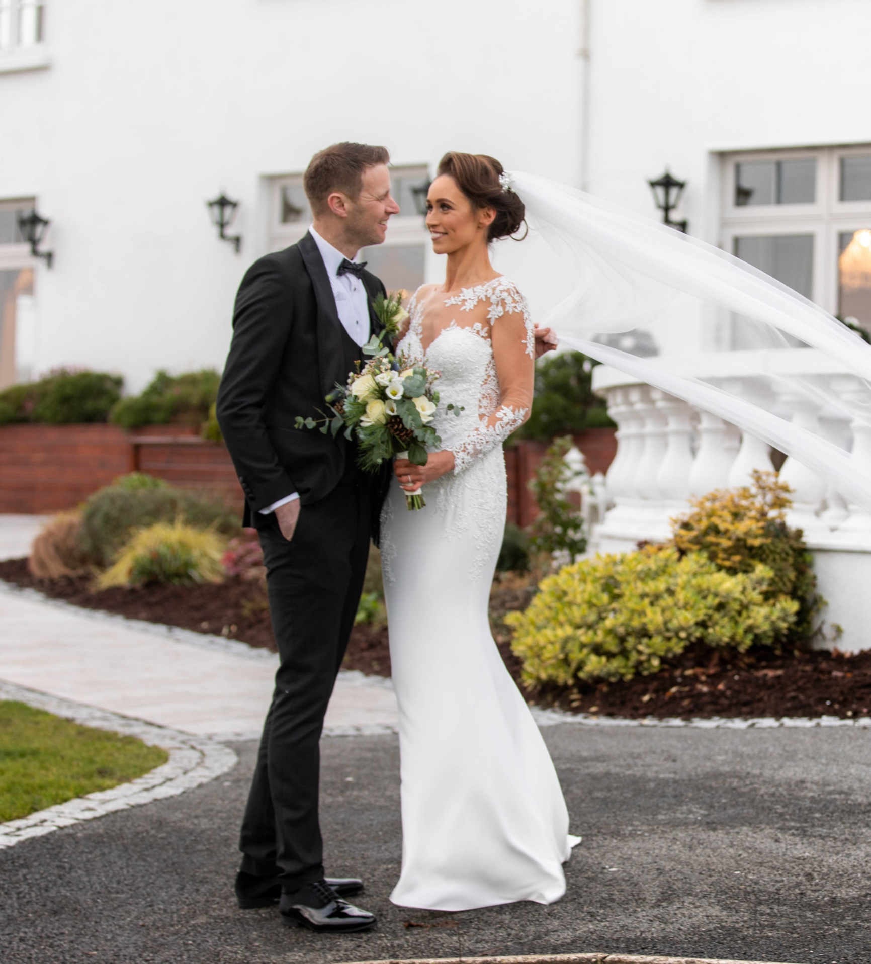 crover house winter wedding christmas bride