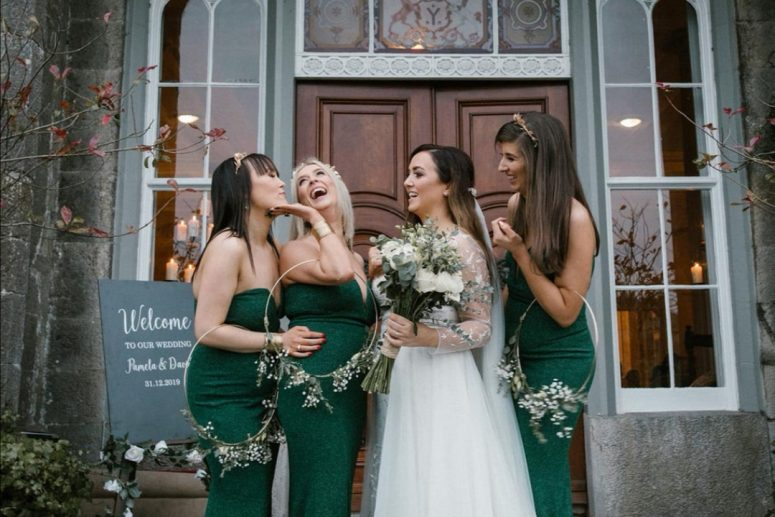 slane castle wedding new years eve bride glam makeup glam hair julie cummins photogrpahy