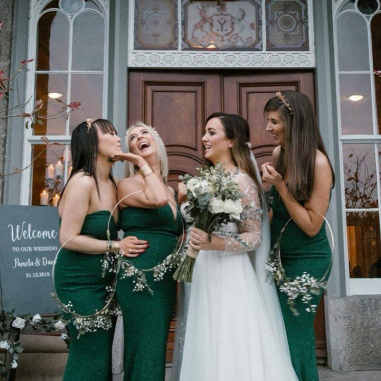 slane castle wedding new years eve bride glam makeup glam hair julie cummins photogrpahy