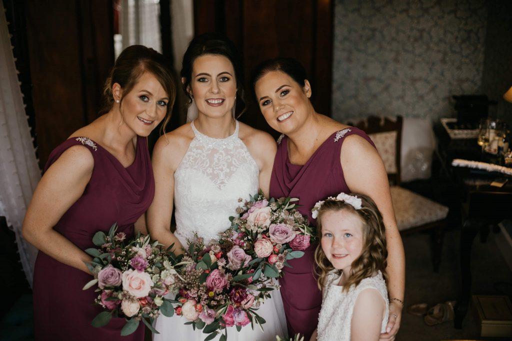 Boynehill house bride flowers by moira Darren Byrne Photography and Film